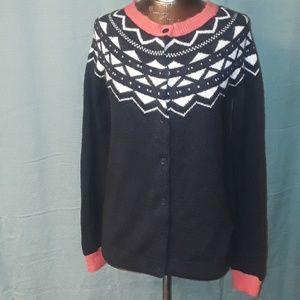 * Gap Essential Fairisle Cardigan Angora Sweater